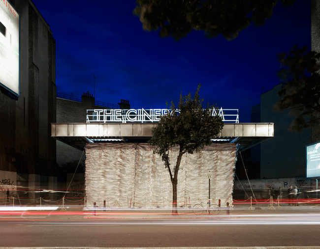 The Cineroleum, Assemble's first project, comprised converting a disused petrol station into a cinema. Credit: Assemble