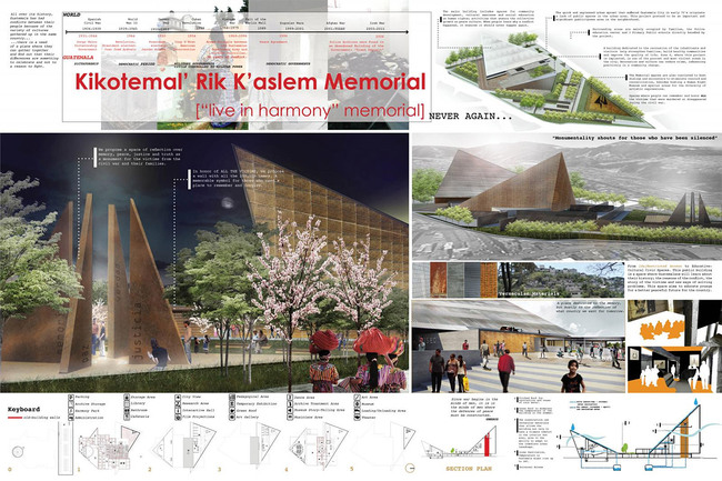 Political Response, Second Place: Kikotemal' Rik K'aslem Memorial, Guatemala City, Guatemala