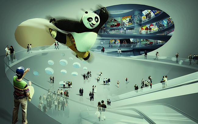 Visualization, lobby © MVRDV