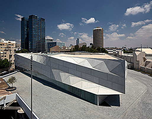 Herta and Paul Amir Building at the Tel Aviv Museum of Art by Preston Scott Cohen, Inc., with photographs by Amit Geron