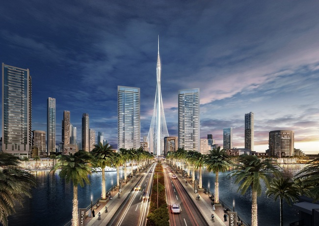 Advanced wind tunnel tests on the Calatrava-designed Tower at Dubai Creek Harbour have reportedly concluded. (Credit: Emaar Properties)