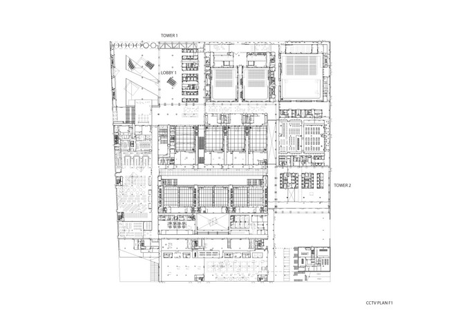 CCTV/OMA - Ground Floor Plan, Image courtesy of OMA