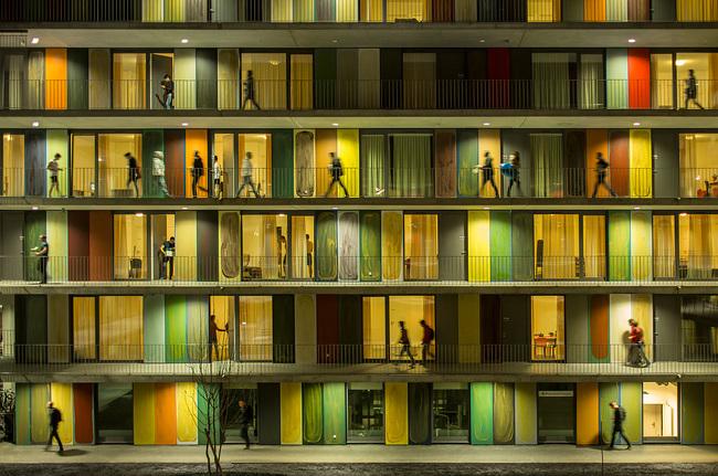 Overall Winner: Fernando Guerra - EPFL Quartier Nord in Ecublens, Switzerland by Richter Dahl Rocha & Associés'. Image © Fernando Guerra