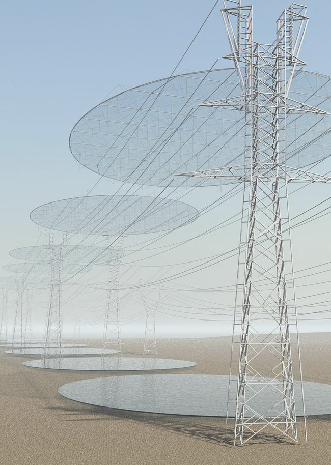 "From Cristina Jorge Camacho's ""SEEDING MICRO-CLOUDS. Power Transmission Lines & WaterTransmission Surfaces"" proposal."
