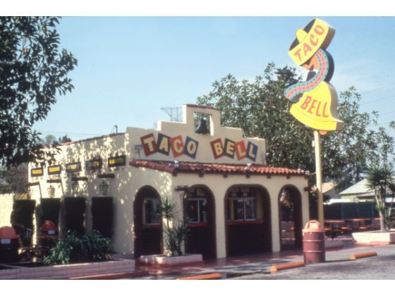The original Taco Bell restaurant in Downey, California. Image via the Downey Patriot.
