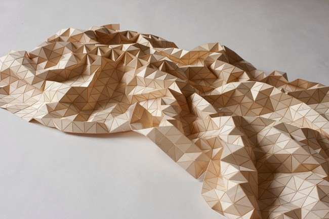 "A ""wooden textile"" by Elisa Strozyk. (Image via BLDGBLOG)"