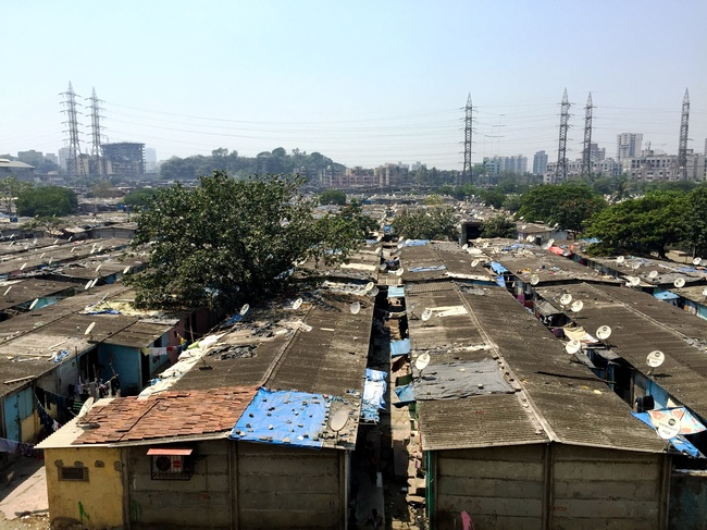 Informal settlement in Mumbai, India. Photograph courtesy of Subhash Chennuri (report co-author).