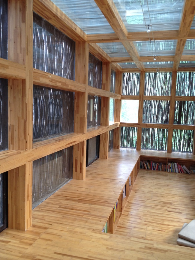 Interior reading area