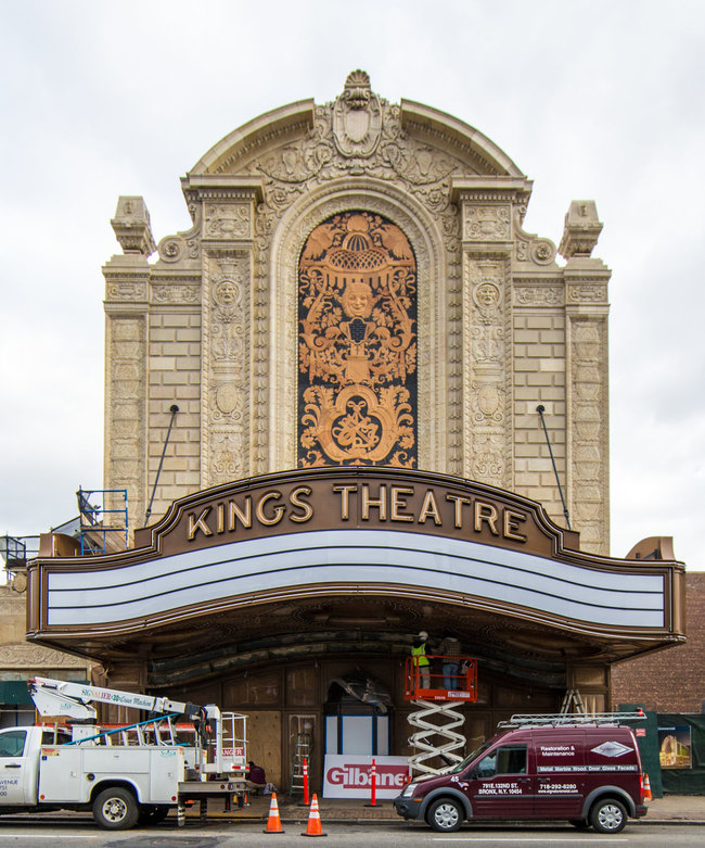 The Kings Theater in Brooklyn. Credit Fred R. Conrad/The New York Times