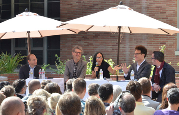 RUMBLE Symposium 2012, hosted by Sylvia Lavin with Michael Osman, Andrew Zago, Sanford Kwinter, and Nicholas de Moncheux