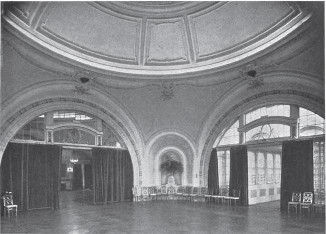 photographic view of interior space on the then (1912) newly constructed Roof-Garden floor of the Bellevue-Stratford Hotel - North Pavilion via skailian90
