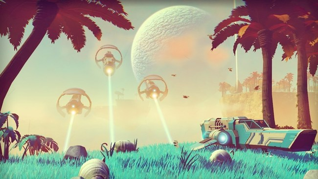 Screenshot from 'No Man's Sky', via killscreen.com.