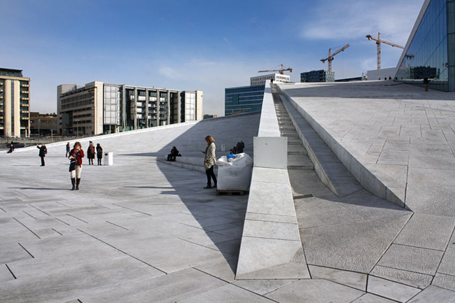 Ramping roof of the Oslo Opera House