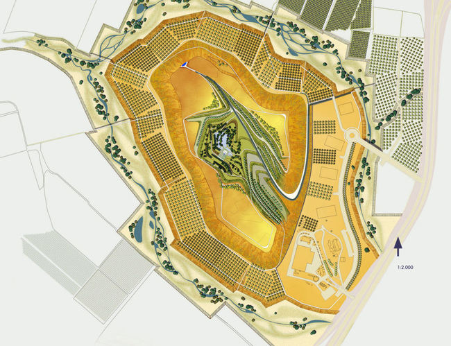 Plan of Hiriya Landfill Rehabilitation by Latz+Partner LandscapeArchitects, Tel Aviv