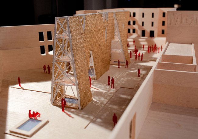 model of CODAs Party Wall. Image courtesy of CODA