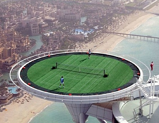 The World's Tallest Tennis Court