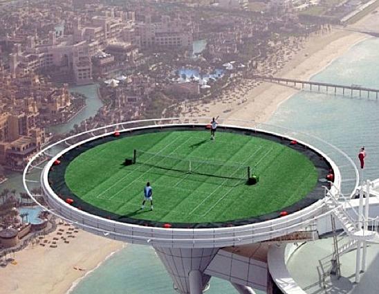 The World's Tallest Tennis Court