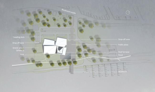 Site plan (Image: Saucier + Perrotte, Architectes)