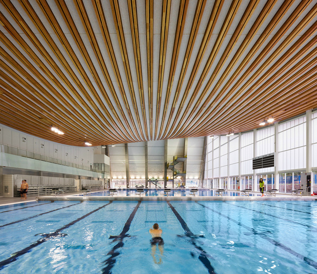 Grandview Heights Aquatic Centre - Surrey, Canada. Engineered by: Fast + Epp. Photo: Ema Peter.