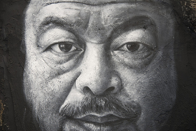 Ai Weiwei portrait. Image via thierry ehrmann/flickr.