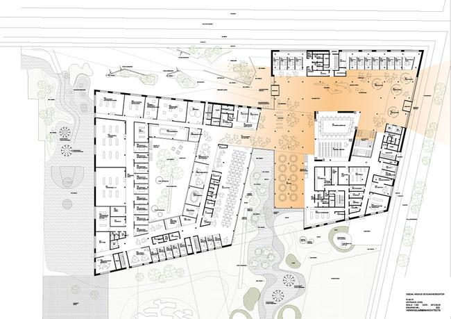 Floor plan, level 01 (Illustration: Henning Larsen Architects)