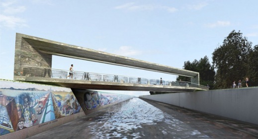 Art Bridge reconnecting LA River via MegalopolisNow