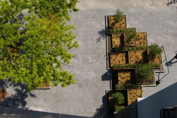 Aerial of Caroll Street MTA plaza by Future Green Studio