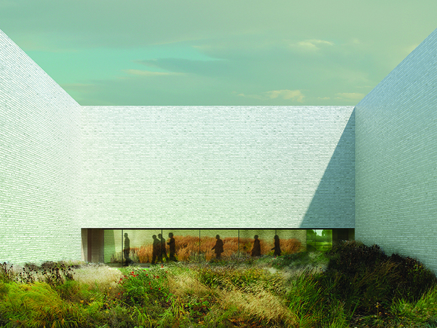 Aalst Crematorium to be built by Claus en Kaan Architecten (enclosed garden)