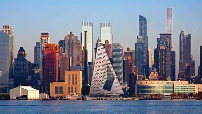 Michael Kimmelman credits the unusual Via 57 West condo tower for redrawing Manhattan's western skyline. (Image via via57west.com)
