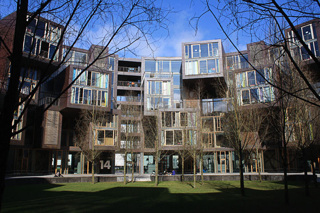 Courtyard of Tietgenkollegiet by Lundgaard & Tranberg