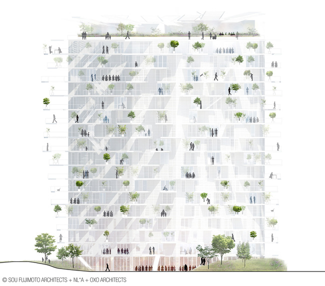 Copyrights: SOU FUJIMOTO ARCHITECTS + NICOLAS LAISNE ASSOCIES + MANAL RACHDI OXO ARCHITECTS+ FRANCK BOUTTE CONSULTANTS