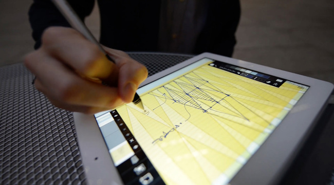 Trace Pro was specifically developed for the enhanced capabilities of Apple's new iPad Pro and Pencil. (Image courtesy of Olin McKenzie, SOM)