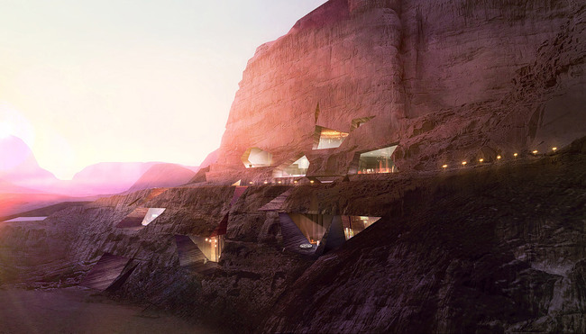 Future Project of the Year – Commercial: Wadi Rum Resort, Jordan, Oppenheim Architecture + Design, USA