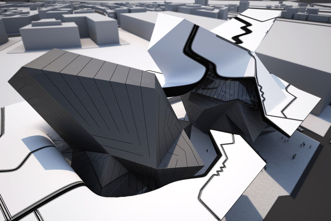 Entry to the Taichung City Cultural Center competition by Tom Wiscombe Design