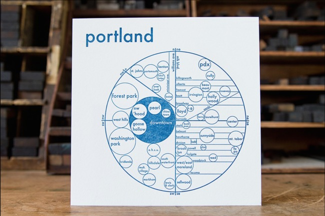 A mental map of Portland (photo via FastCompany)