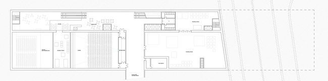 First basement floor plan (Image: AAKAA & MARS Architectes)