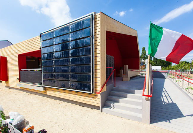 "1st Prize/Overall: ""Rhome for Dencity"" by Team Rhome (Universitá Degli Studi di Roma TRE). Photo © Solar Decathlon Europe / jflakes.com"