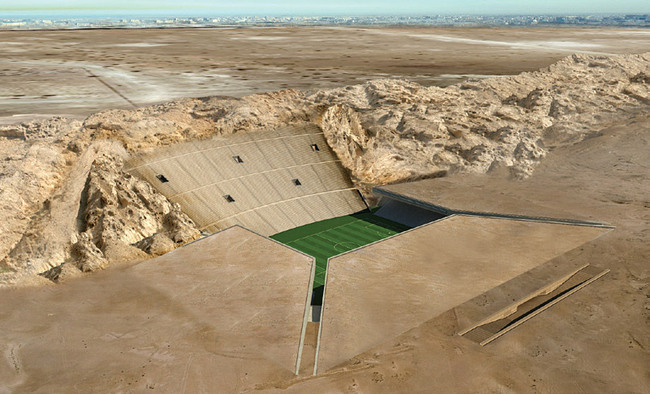 MZ Architects, with The Rock Stadium, Al Ain, UAE