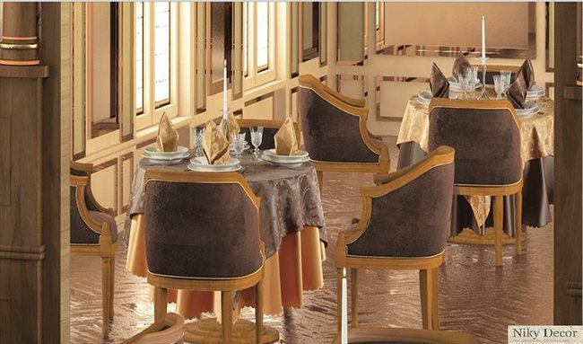 Restaurant interior design planting classic style