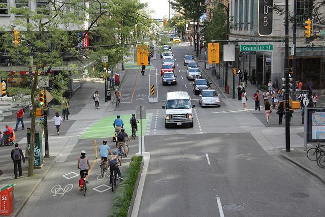 Dunsmuir separated bike lane in Vancouver. Photo: Paul Krueger/Flickr.