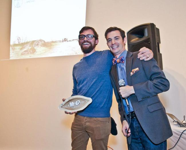 Charles Vega accepts the award for 'Best Unbuilt Project 2012'