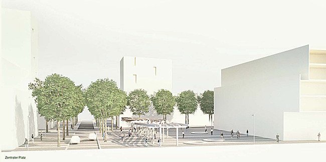 West 8 wins freiham nord urban landscape planning for 9 square architecture