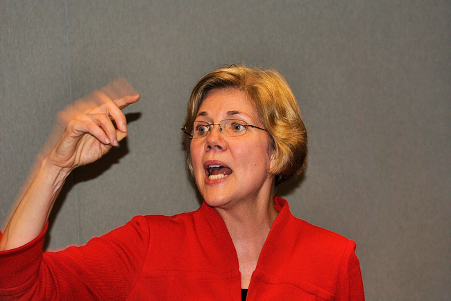 Senator Elizabeth Warren from Massachusetts. Image via flickr.com