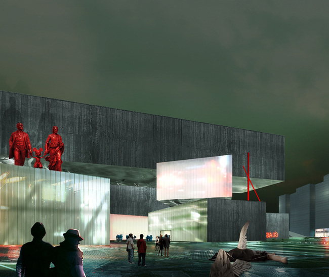 New NCCA proposal by WAI Think Tank - North promenade view. Image: WAI Architecture Think Tank