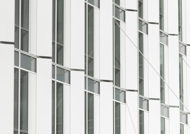 City Green Court south facade detail - Copyright Roland Halbe