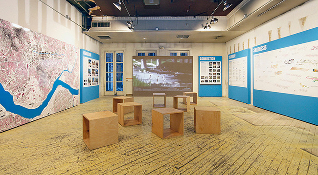Van Alen Institute's pop-up ground floor exhibition space. Photo: Cameron Blaylock