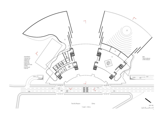 Plan, level 1 (Image: Architecton)