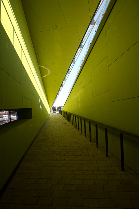 Outdoor passage of the Vellamo Maritime Museum of Finland in Kotka 2008