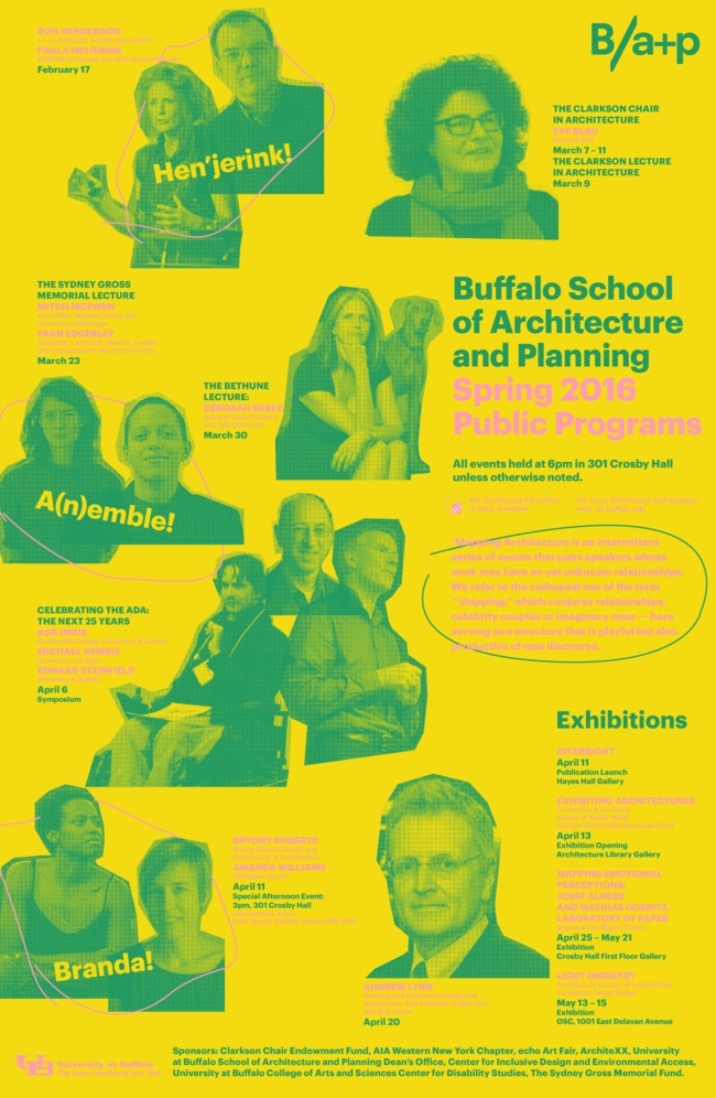 Poster courtesy of the University at Buffalo, School of Architecture and Planning.