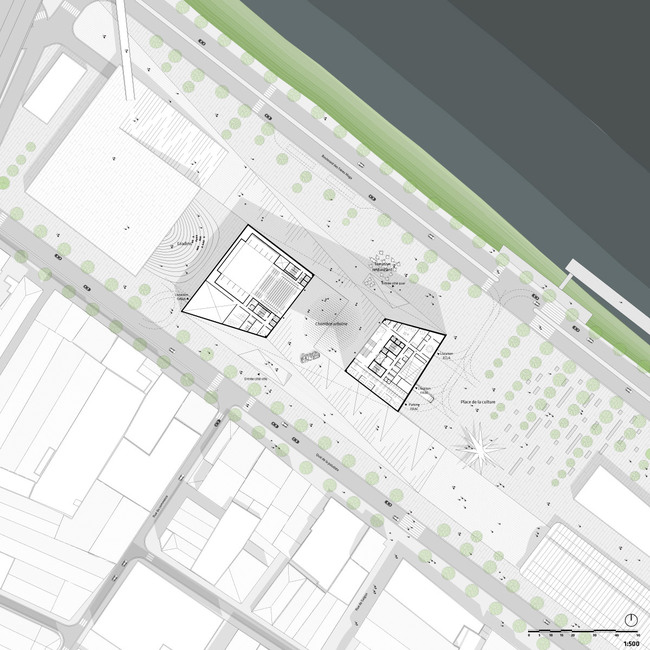 Site plan, 1/500 (Image: Team BIG)